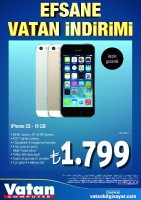 iPhone 5S 16GB 1,799 TL